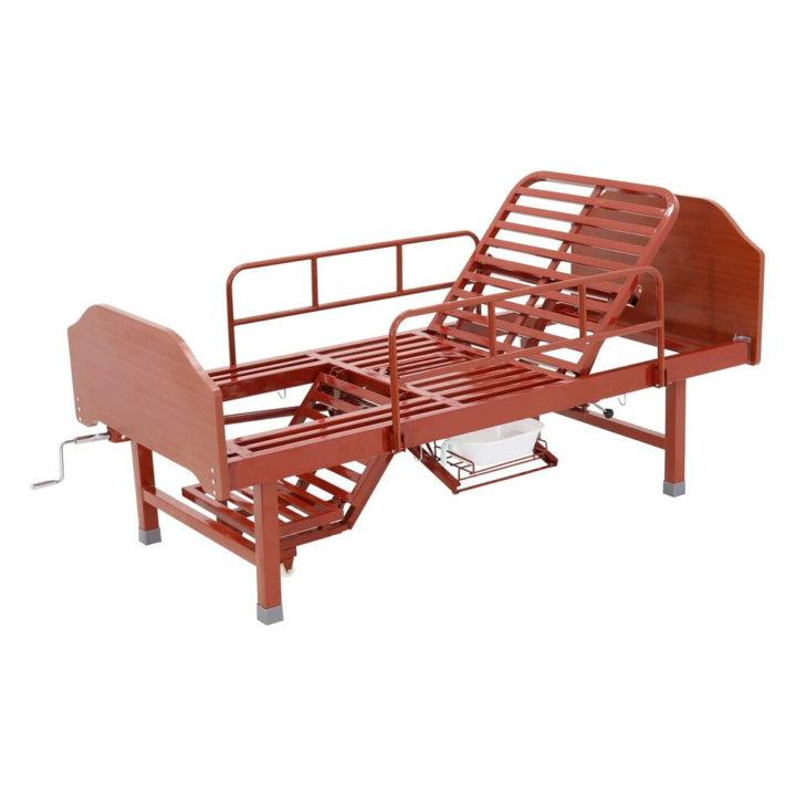 Кровать механическая Med-Mos с туалетным устройством и функцией «кардиокресло» Е-49 (MM-912Н)